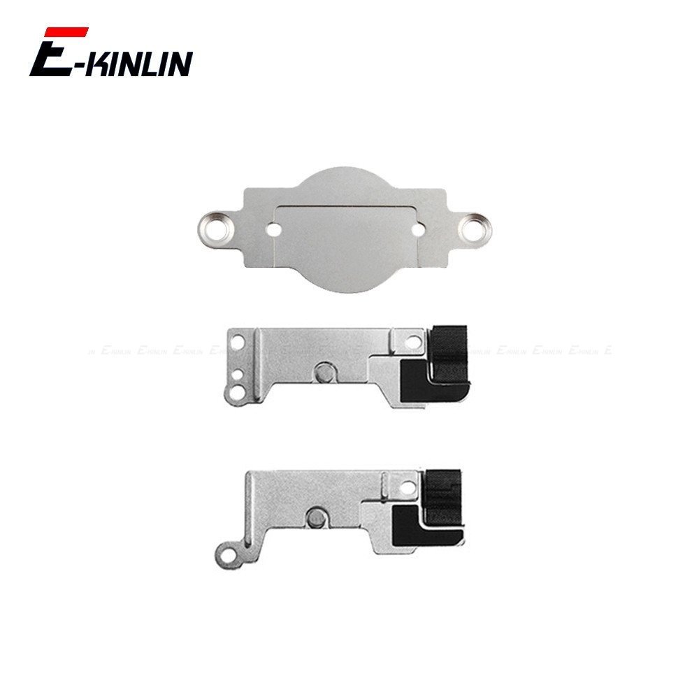 5pcs For IPhone 5 5S SE 5C 6 6S 7 8 Plus Home Button Mounting Metal Holder Bracket Replacement Parts