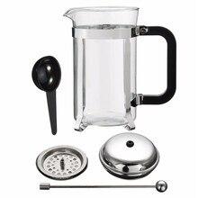 600 ml Französisch Pressen Edelstahl Borosilikat Kaffeekanne Kaffeemaschine Wasserkocher Teekanne Haushalt Büro Hitzebeständig Topf