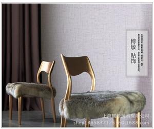 Image 4 - 5M x 60CM נוסף עבה פשתן מרקם טפט רגיל שיפוץ רהיטי מדבקת עצמי דבק טפט Roll לשינה דקור