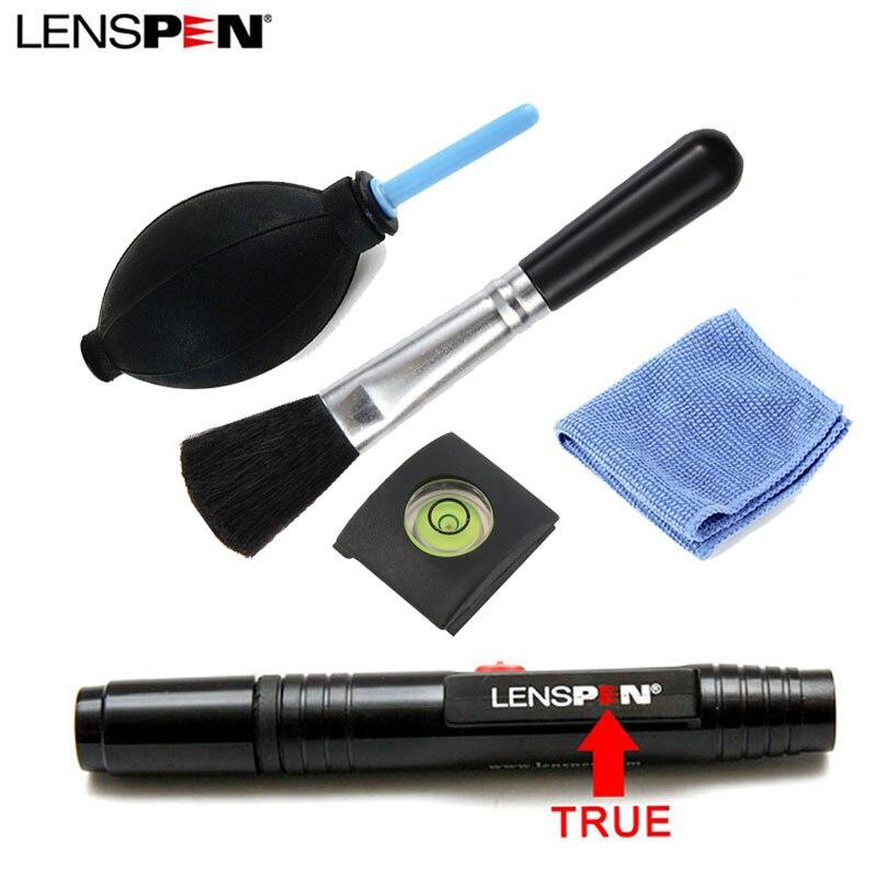 5 in 1 LENSPEN Cleaner Dust Camera Lens Cleaning Penna Pennello Salviette filacciosi Kit Ventilatore di Aria Per Canon Nikon Sony Spirito Caldo scarpa