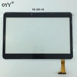 Pojemnościowy panel dotykowy wymiana czujnika w digitizerze części FX-205-V1 SLR ekran dotykowy 10.1 ''cal Multi panel dotykowy tablet PC