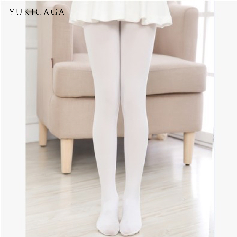 Yukigaga Girls Women Footed Ballet Tights Microfiber Velvet White Black Pink Ballet Dance Stockings Pantyhose With Gusset C25a