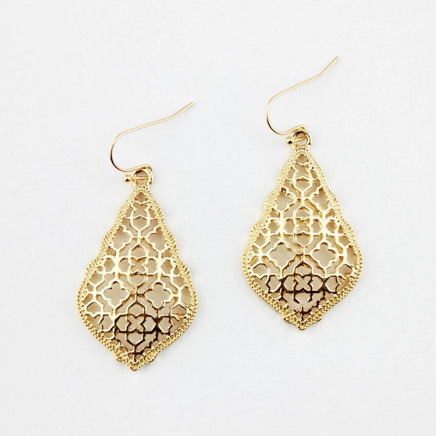4 цвета,, хит, бренд, дизайнерские, вдохновленные, выдолбленные Висячие серьги-капли для женщин, серьги-капли с монограммой - Окраска металла: E2894 Gold