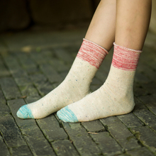 New Curling Socks For Women Patchwork Women's Cotton Socks Long Tube Thick Line Knitted Sosk Colorful Funny Socks Ladies