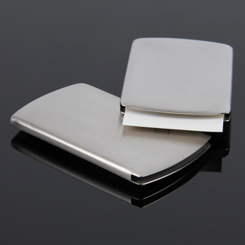 New business card holder pocket men women vogue thumb slide out new business card holder pocket men women vogue thumb slide out stainless steel silver aluminium metal id credit cards case box in card id holders from colourmoves