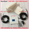 White Color LCD High Power 65dB Dual Band GSM 900MHz DCS 1800MHz 4G Mobile Phone Signal Booster Amplifier Repeater GSM Celulares
