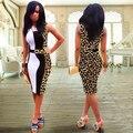 Vestido de verão 2016 novas mulheres moda verão estilo plus size mulheres roupas sexy vestido ocasional
