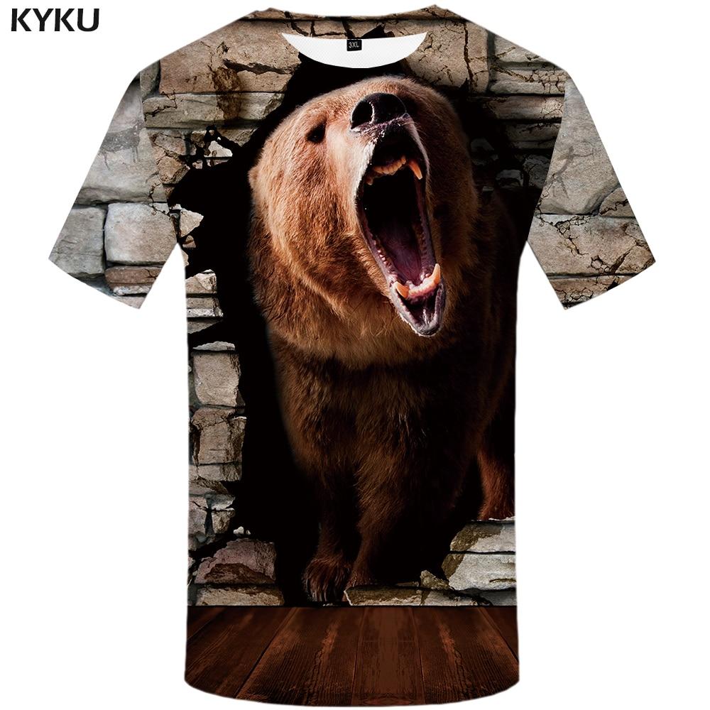 Kyku Marke Shark T-shirts Männer Tier T-shirt Homme Ozean T-shirts Casual Harajuku Druck Krieg Shirt 3d Kurzarm Grafik Schmuck & Zubehör