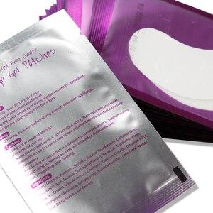 Image 3 - 200 זוגות ריס הארכת נייר תיקון מוך עיניים חינם טיפים מדבקת כורכת ריסים איפור כלים תחת עין כרית רפידות סיטונאי