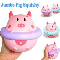 Leuke Jumbo Pig Squishy Soft Doll Collectibles Cartoon Crème Scented Super Trage Stijgende Originele Verpakking