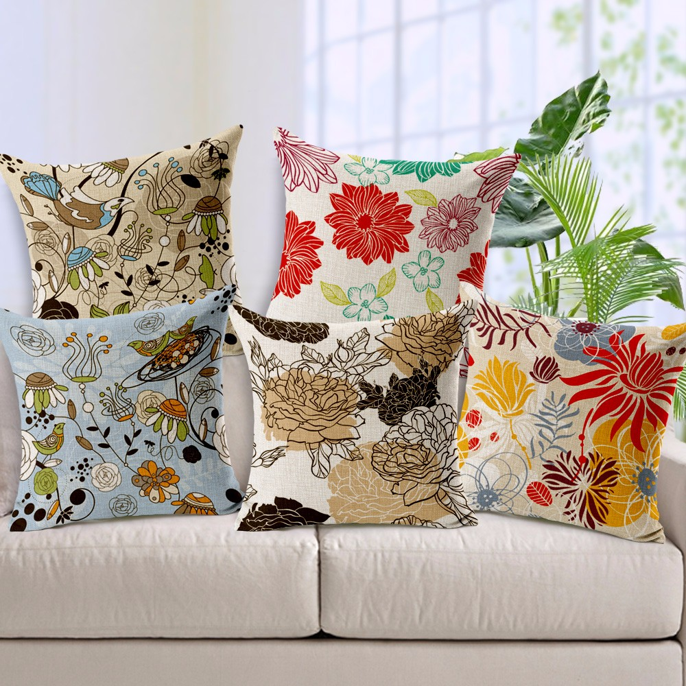 Retro Beige Throw Pillow Cases Cushion Covers Home Decor 8 Sizes
