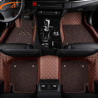 AutoDecorun Custom Fit Car Floor Mats For Audi A1 A3 A4 A5 A7 A8 Q5 Q7 R8 TT S6 S8 Car Mats PVC Leather Cars Floor Accessories