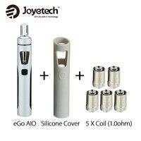Original Joyetech eGo AIO Kit 2ml 1500mAh w/SS316 BF Coil 1.0ohm/0.6ohm Silicone Case Cover for EGO AIO Quick Vaping Pen