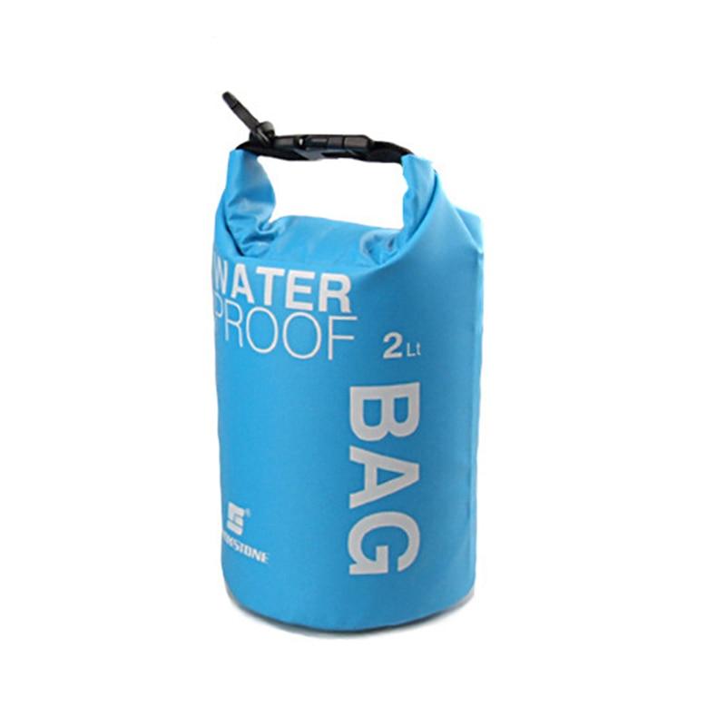 Hot LUCKSTONE Waterproof Bag Pouch for Camping Kayak Fishing Rafting Canoe-kayak 2L Blue