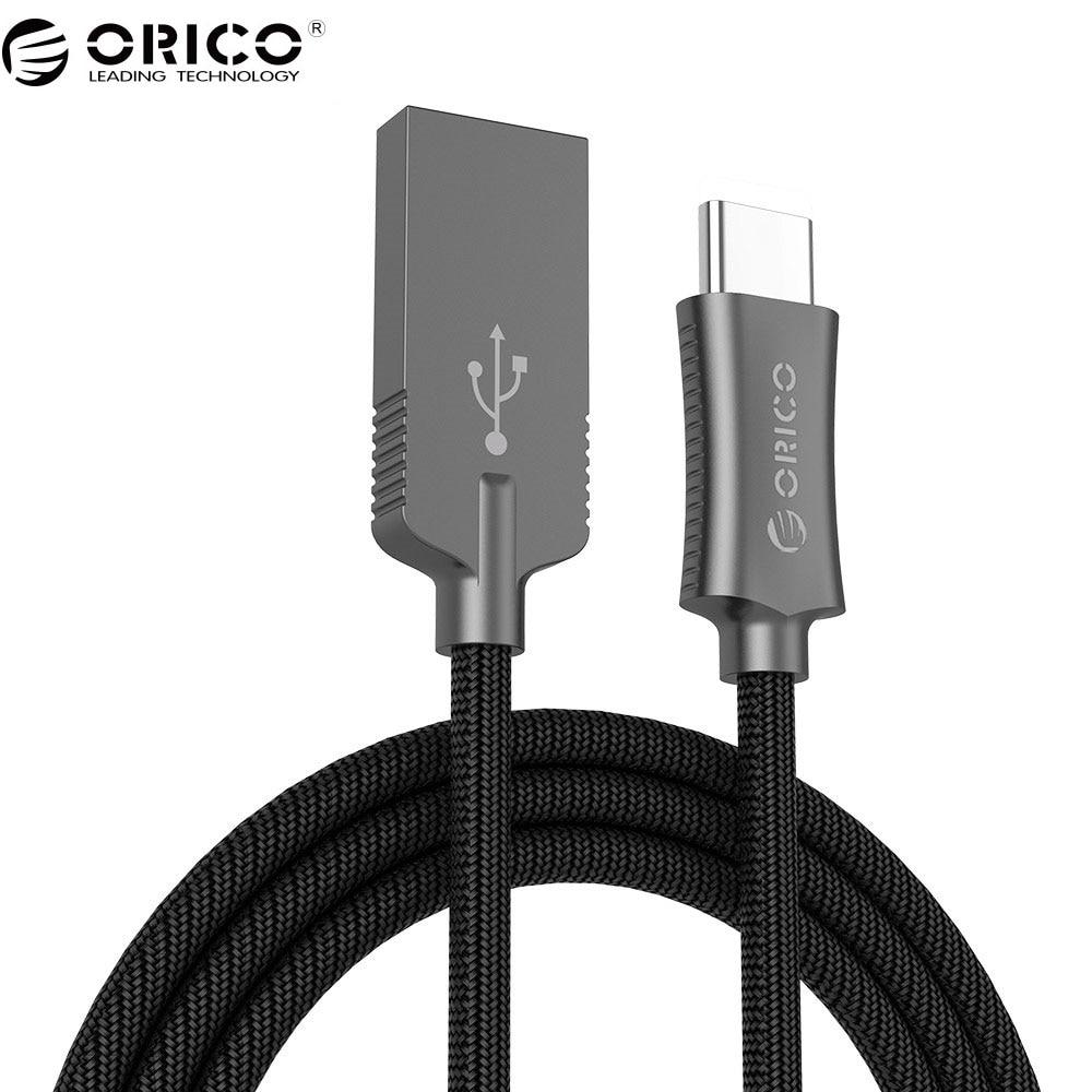 Galleria fotografica ORICO Cavo USB Tipo A a C Hi-speed USB di Sincronizzazione e Cavo di Ricarica per Huawei P9 Macbook <font><b>LG</b></font> G5 Xiaomi Mi 5 HTC 10 in Più di Zinco lega