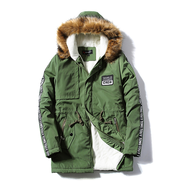 2016 Winter Jacket New Warm Men's Jacket Parka Thick Fur Collar Long Cotton Coats Men Comfortable Hooded Parka Men Overcoat 4XL