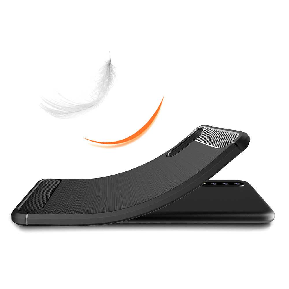 Case For Huawei P8 P9 P10 P20 Mate 9 10 20 X P Smart Lite Pro Plus 2017 Carbon Fiber TPU Phone Case Cover Shell Capa