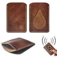 Slim Men Wallet Business Card Holder bank cardholder leather leather multi-card-bit pack bag Bus card package brown(China)