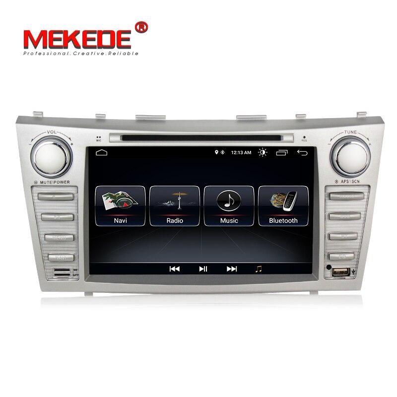 2din Android8.1 Quad-core dvd-плеер автомобиля для Toyota camry 2007-2011 Автомобильный gps навигатор Радио Ipod BT mic карта для подарка