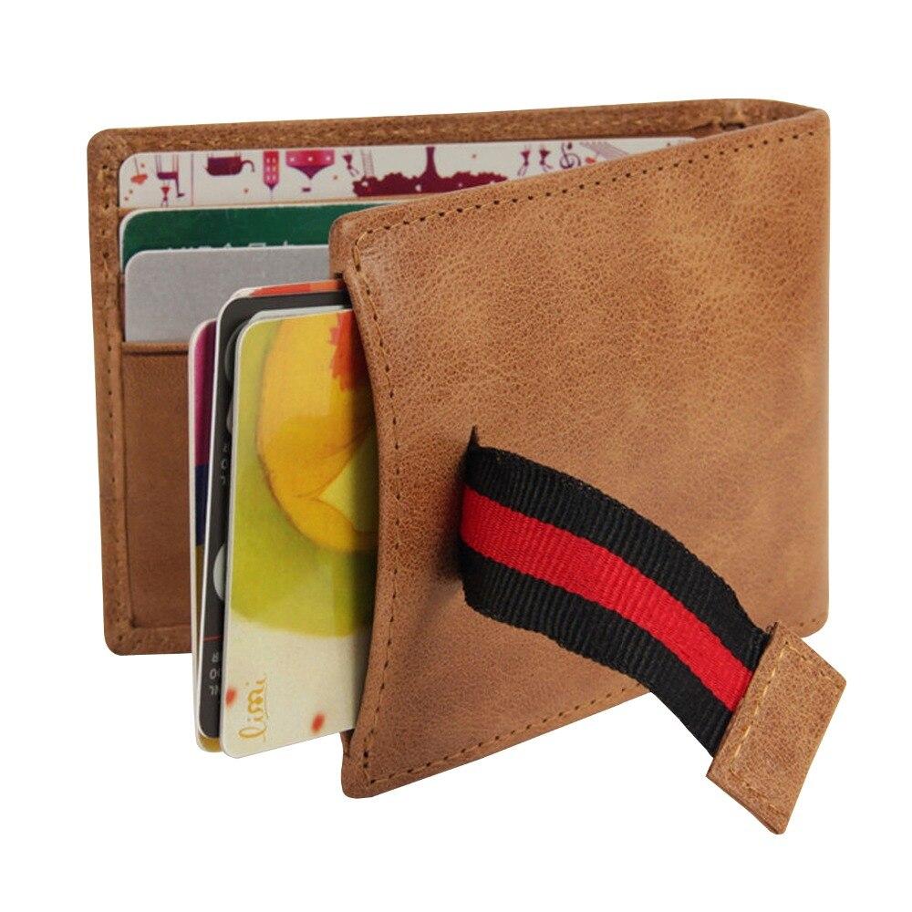 bolso frontal minimalista dos homens Composição : Genuine Leather