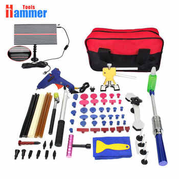 Paintless Hail Repair Dent Puller Lifter PDR KING Tools T Bar Damage Removal Glue Kit led lamp - DISCOUNT ITEM  42% OFF Tools