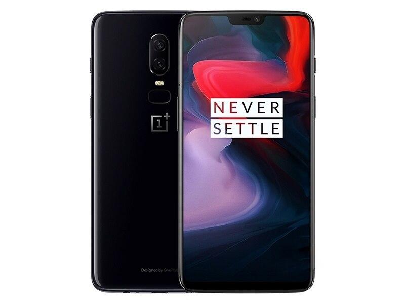 Nouveau Déverrouillage Version Originale Oneplus 6 Android Smartphone 4G LTE 6.28 8 GO de RAM 256 GB Double SIM carte 1080x2280 pixels Mobile Téléphone