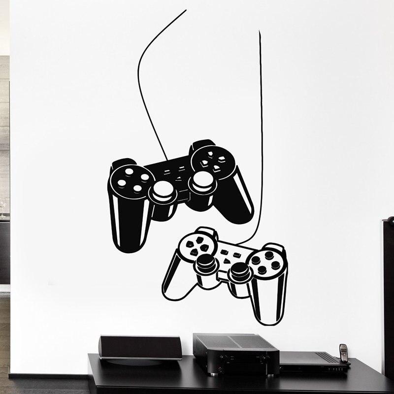 Video Game Jogo Adesivo Decalque Para Jogos Gamer Cartazes Decalques Da Parede do Vinil Decoração Da Parede Mural 19 Cor Escolher Video Game Adesivo