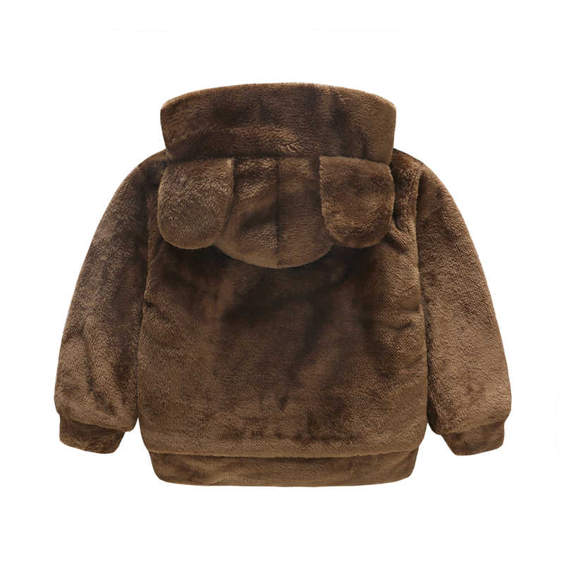 JOMAKE תינוק מעילי 2018 חדש סתיו ילדים בגדים חמוד סלעית מעילי עבור בנות בני צמר קריקטורה תינוק דוב סוודרים נים