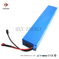 HXX 36V 10AH Battery Pack 18650 Lithium Cell Rechargable 10S5P Connection For Ebike E Bicycle Self