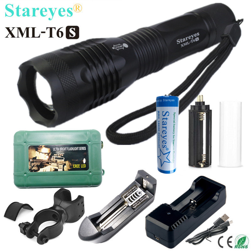 1 x Small  /& 1 x Large heavy Duty Rubber Torch Shock Proof ULTRA Bright LED Lamp