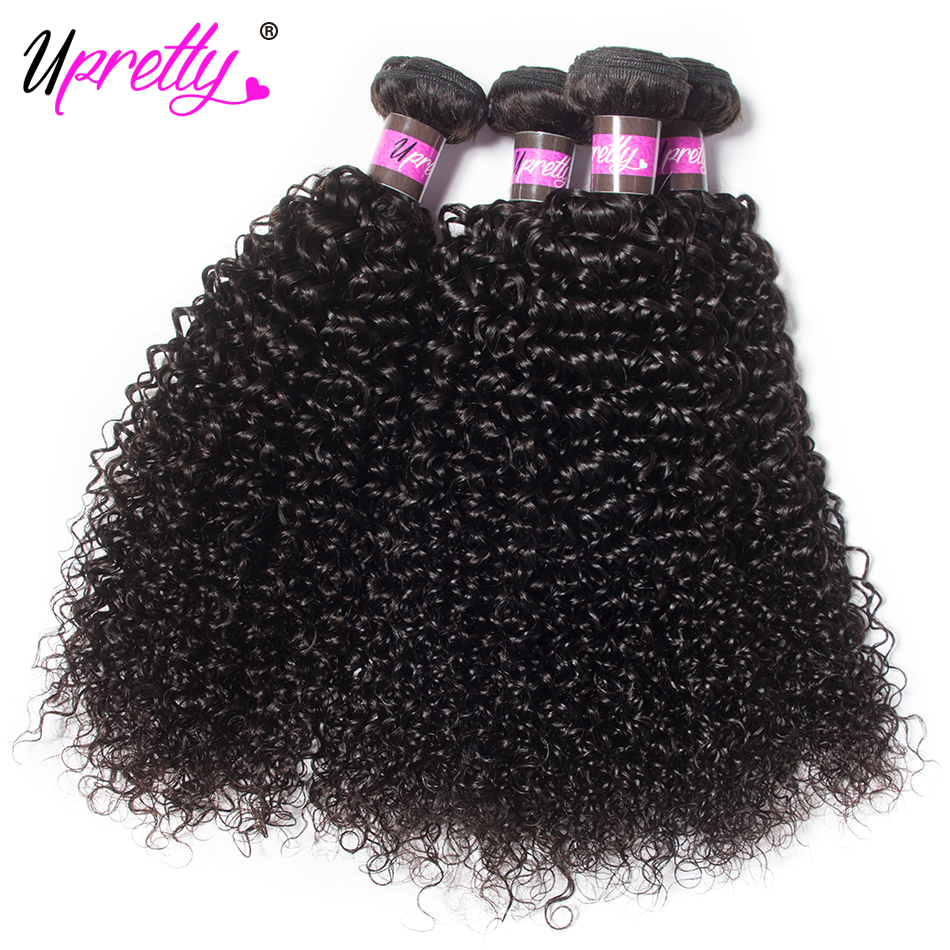 Objective Upretty Hair Malaysian Curly Hair Weave 4 Bundles 100% Human Hair Bundles Natural Black Color Can Be Dyed Remy Hair Extension Hair Extensions & Wigs Human Hair Weaves