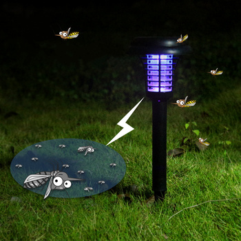 Mosquito Killer LED night light Solar Power Outdoor Garden Lawn Light Mosquito Insect Pest Bug Zapper Trapping led Lamp image