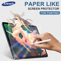 Papel como protetor de tela para ipad pro 12.9 11 10.5 9.7 ar 1 2 3 mini 4 5 fosco pet anti reflexo pintura filme para apple lápis|Protetores de tela p/ tablet| |  -