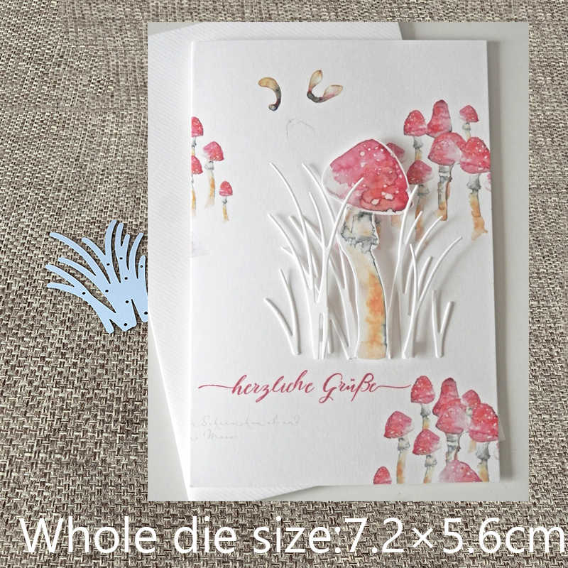 New Design Craft Metal Cutting Dies Edgeles Rectangle Grass Background Scrapbook