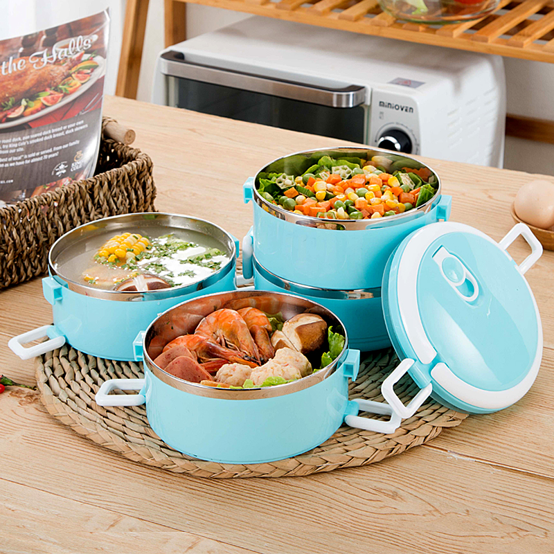 A Kitchen Is Launching An Express Lunch Service: Multi Layers Lunch Box Food Container Kitchen Stainless