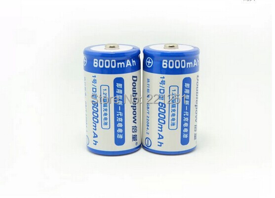 2pcs <font><b>1.2</b></font> <font><b>v</b></font> Nickel cadmium rechargeable batteries, D rechargeable battery 6000 ma, water heater 1 battery image