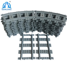 Qunlong City Series Straight Tracks Building Blocks Set Compatible Legoings Classic Train Rails Education Toys for Children Gift(China)