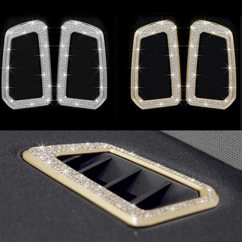 2pcs Silver/Gold Air Condition Outlet Trim Car Interior Accessories For Land Rover Discovery Sport 2015 2016 2017 Car Styling