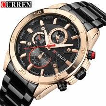 Mens Watches Curren Brand Luxury Gold Black Steel Analog Quartz Watch Men Fashion Casual Business Wristwatches Relogio Masculino