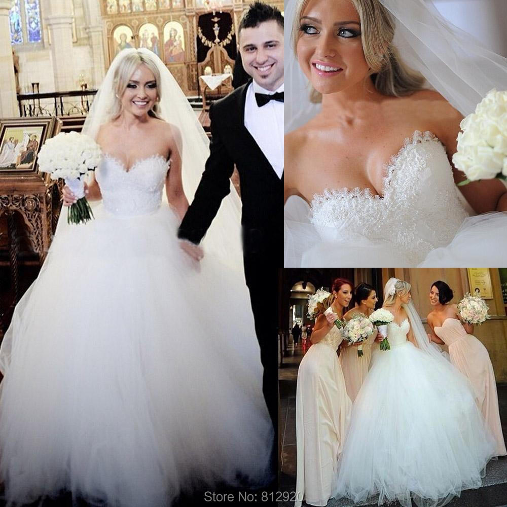 big puffy wedding dresses Aliexpress com Buy Sweetheart Puffy Ball Gown Tulle Wedding Dresses Robe De Mariage from Reliable robe de mariage suppliers on Terence Bridal