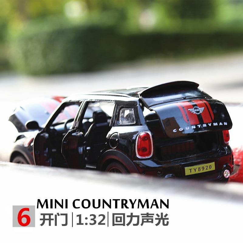 1/32 MINI Countryman Diecasts & Toy Vehicles Car Hot Style Rambo Centenario Sound Light Toys