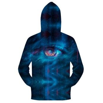 Blue Eye in Galaxy 3D Zip Hoody Zipper Sweatshirt Mens Hoodies Pullover Clothing Tracksuit for Autumn Fall DropShip ZOOTOPBEAR 1