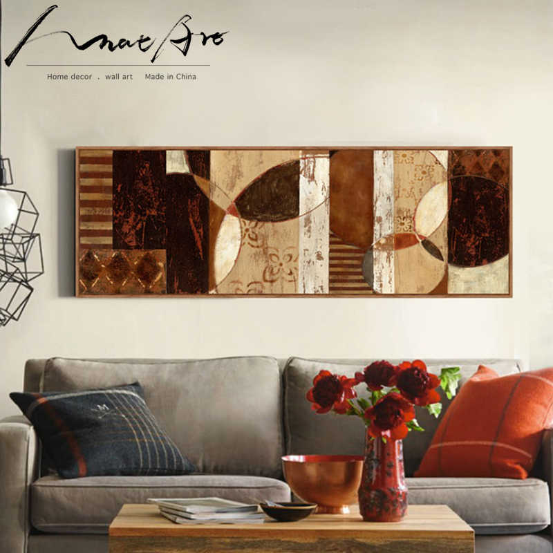 Abstract Painting Horizontal Rectangle Living Room Sofa Wall Canvas Art Modern Home Decor Poster Print Picture African Pop Art Painting Calligraphy Aliexpress