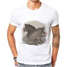 Men T Shirt Vegan Somenone Wild Boar Pig Design Cotton Male O-Neck Short Sleeve TShirts Great Discount Youth Oversized T-Shirt
