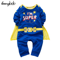 2015 New Baby Boy Romper Character Superman Long Sleeve Jumpsuit Letter Printed Star Kids Boys Costumes