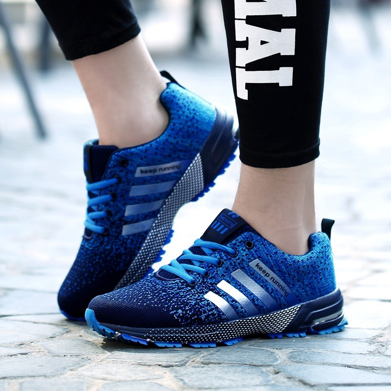 Hot sale 2018 New Trend Running Shoes Men Sneakers Breathable Mesh Shoes Eva Women Sport Runing Shoes plus large size 35--47 5