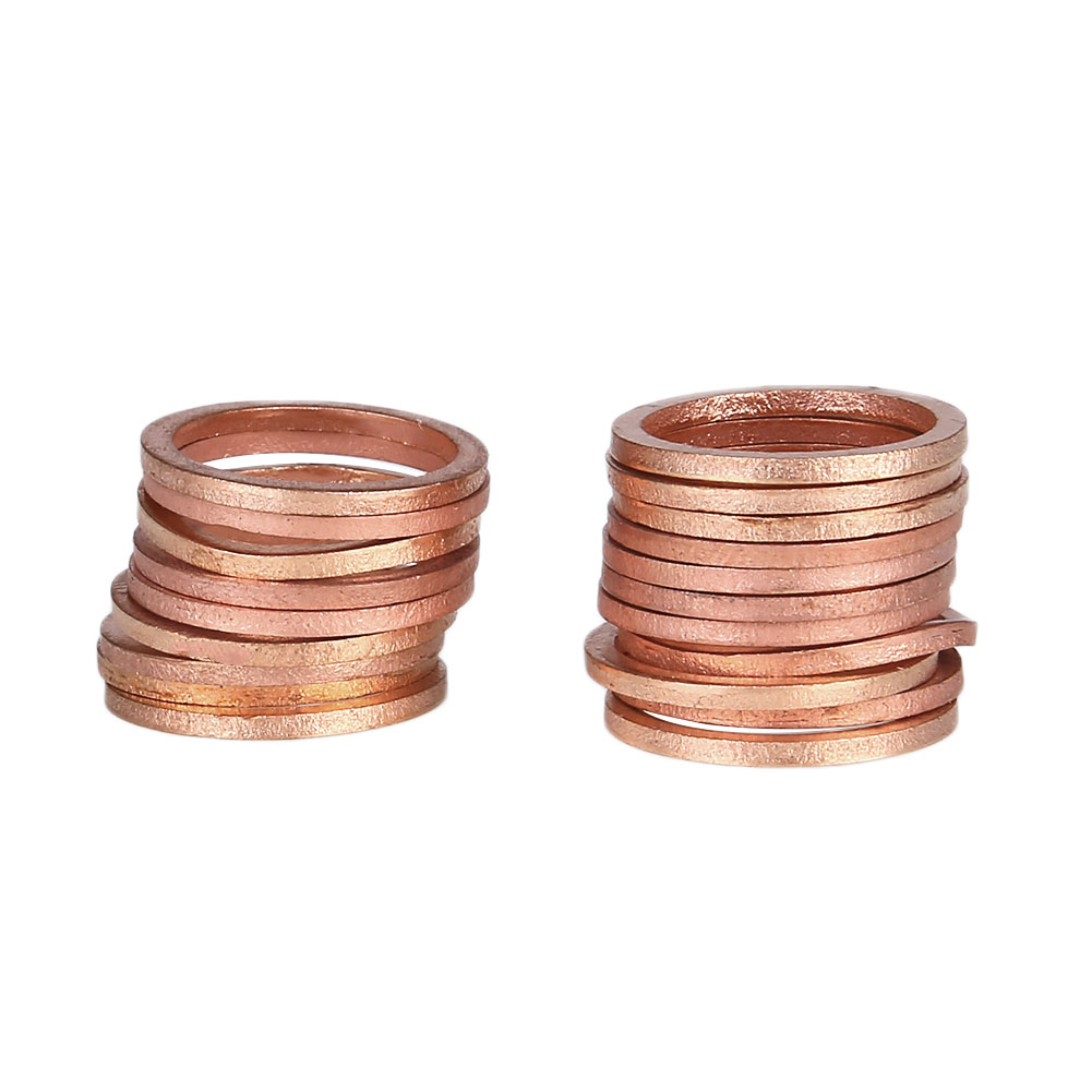20pcs NEW Washers Sump Plug Gasket Anti-Crush General Hardware Kits Solid Copper 16*20*1.5mm20pcs NEW Washers Sump Plug Gasket Anti-Crush General Hardware Kits Solid Copper 16*20*1.5mm