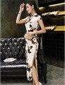 Elegant Women Long Vestidos Cheongsam Slim Long Qipao Chinese Traditional Dress Summer Autumn Garments Size:S M L XL XXL
