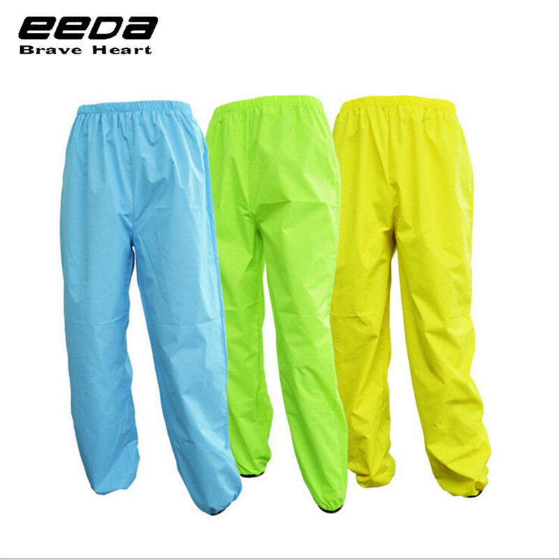 EEDA Men Sports Reflective Breathable Bike Bicycle Raincoat Pants Cycling Wind Rain Trousers Waterproof Windproof Pants цены