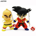 Cute Cartoon Goku Kuririn Gifts pen drive 8GB 16GB 32GB Dragon Ball Usb Flash Drive Pendrive memory stick USB creativo Wholesale
